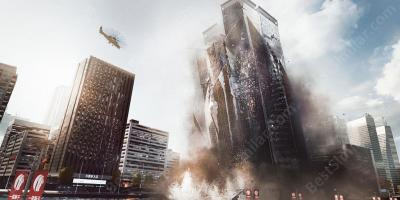 collapsing building movies