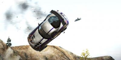 car falling off a cliff movies
